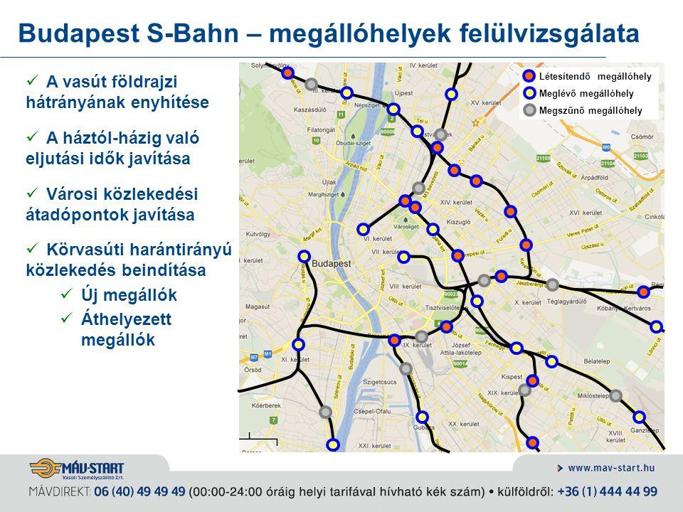 Budapest S-Bahn – megállóhelyek felülvizsgálata