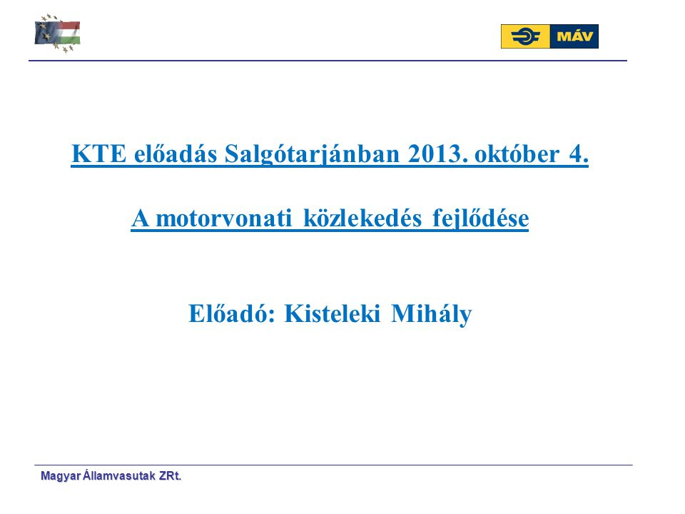 KTE előadás Salgótarjánban 2013. október 4.
