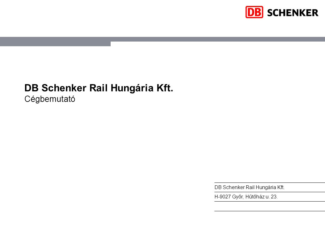 DB Schenker Rail Hungária Kft.