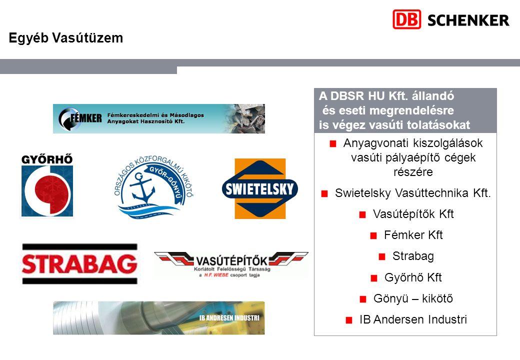 Egyéb Vasútüzem A DBSR HU Kft. állandó és eseti megrendelésre