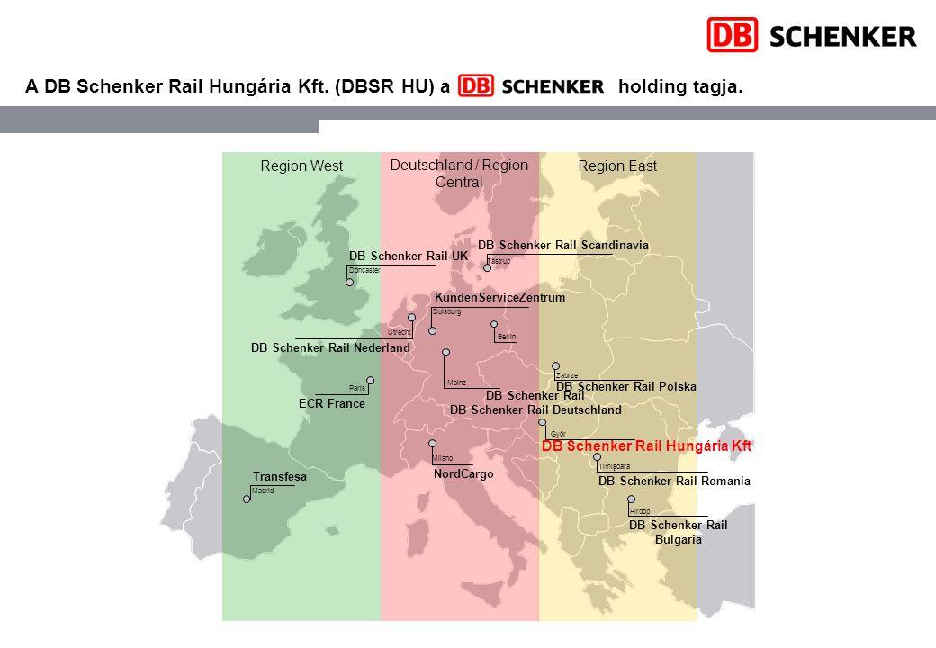 A DB Schenker Rail Hungária Kft. (DBSR HU) a holding tagja.