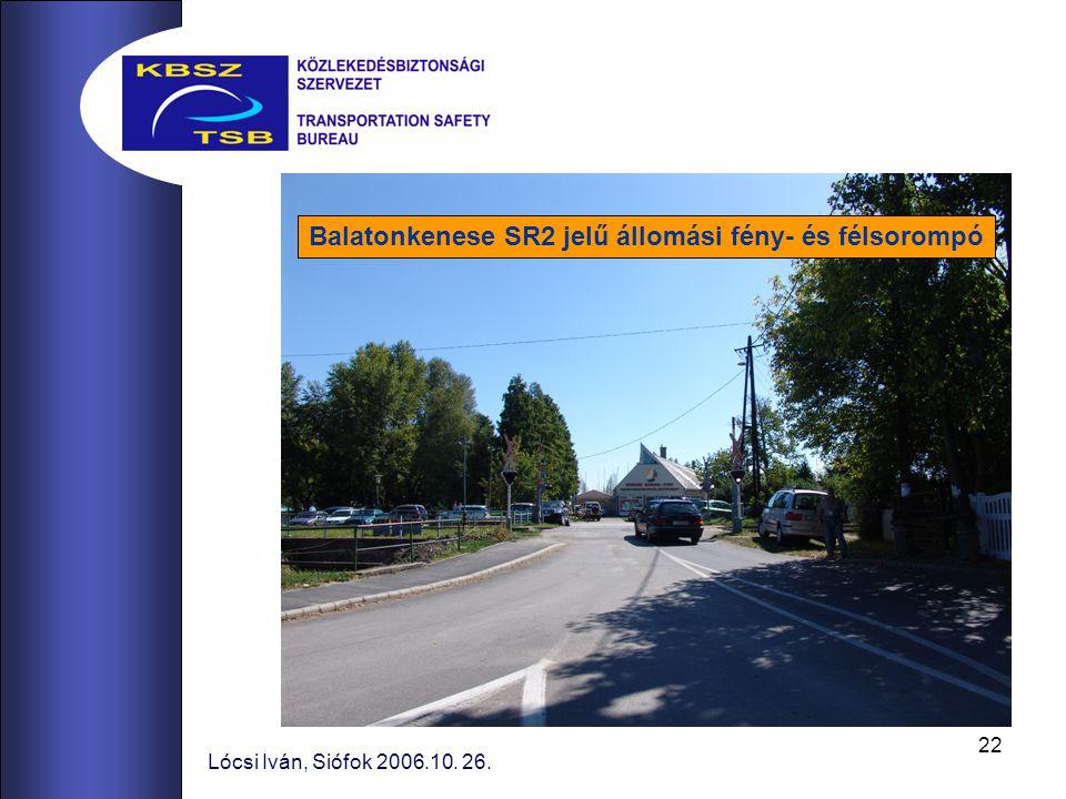 Balatonkenese SR2 jelű állomási fény- és félsorompó