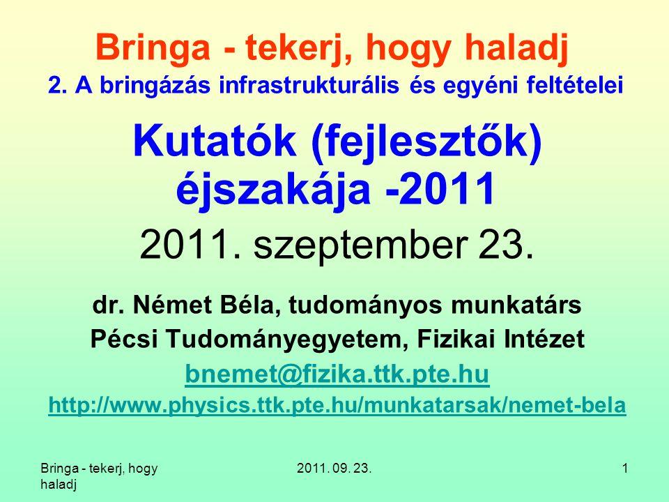 Kutatók (fejlesztők) éjszakája -2011