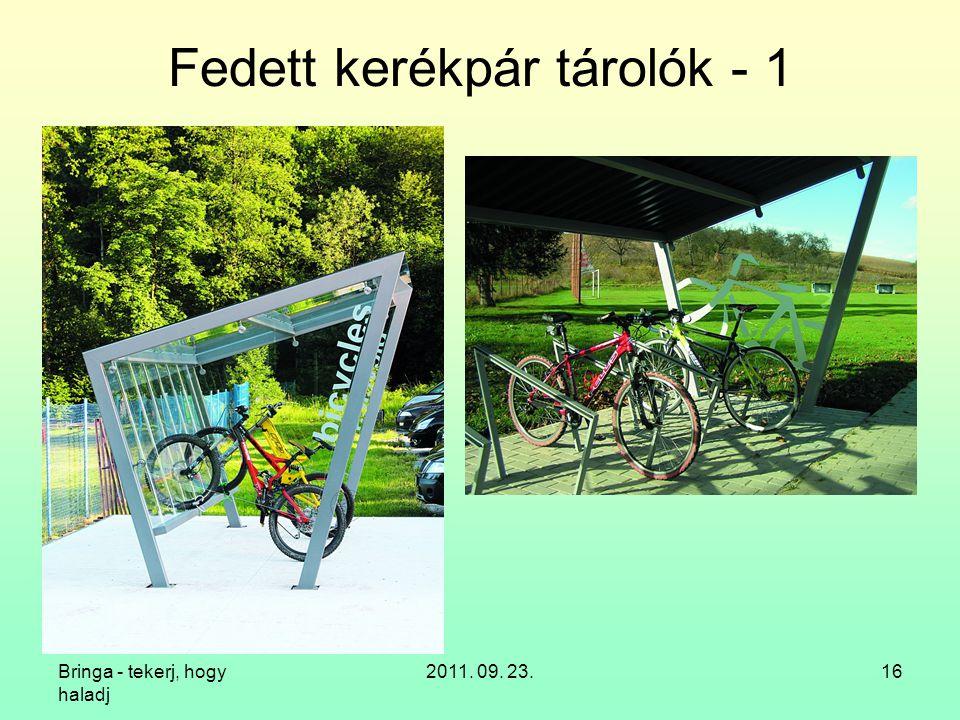 Fedett kerékpár tárolók - 1