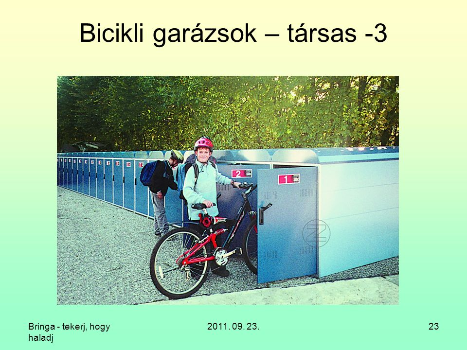 Bicikli garázsok – társas -3