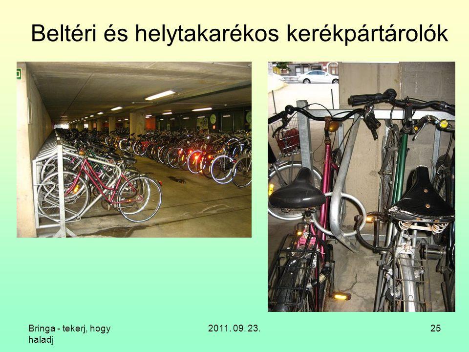Beltéri és helytakarékos kerékpártárolók