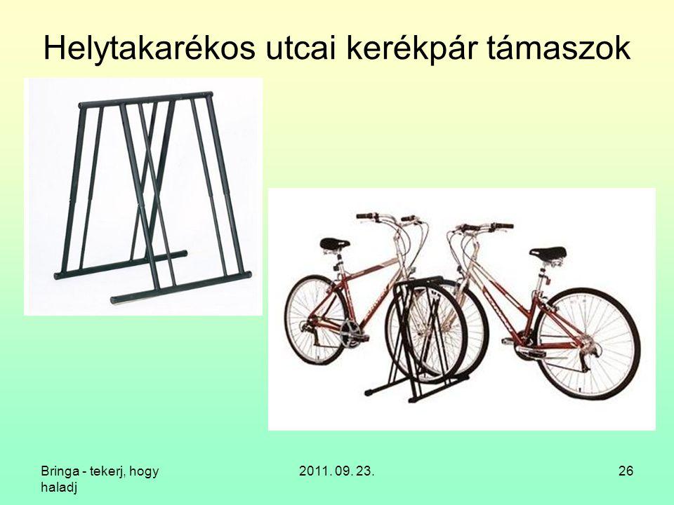 Helytakarékos utcai kerékpár támaszok
