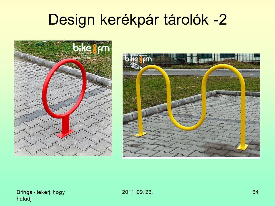 Design kerékpár tárolók -2