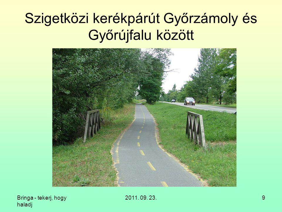 Szigetközi kerékpárút Győrzámoly és Győrújfalu között