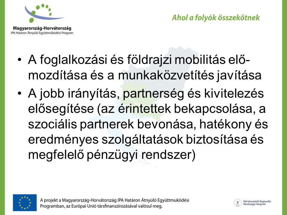 A foglalkozási és földrajzi mobilitás elő- mozdítása és a munkaközvetítés javítása