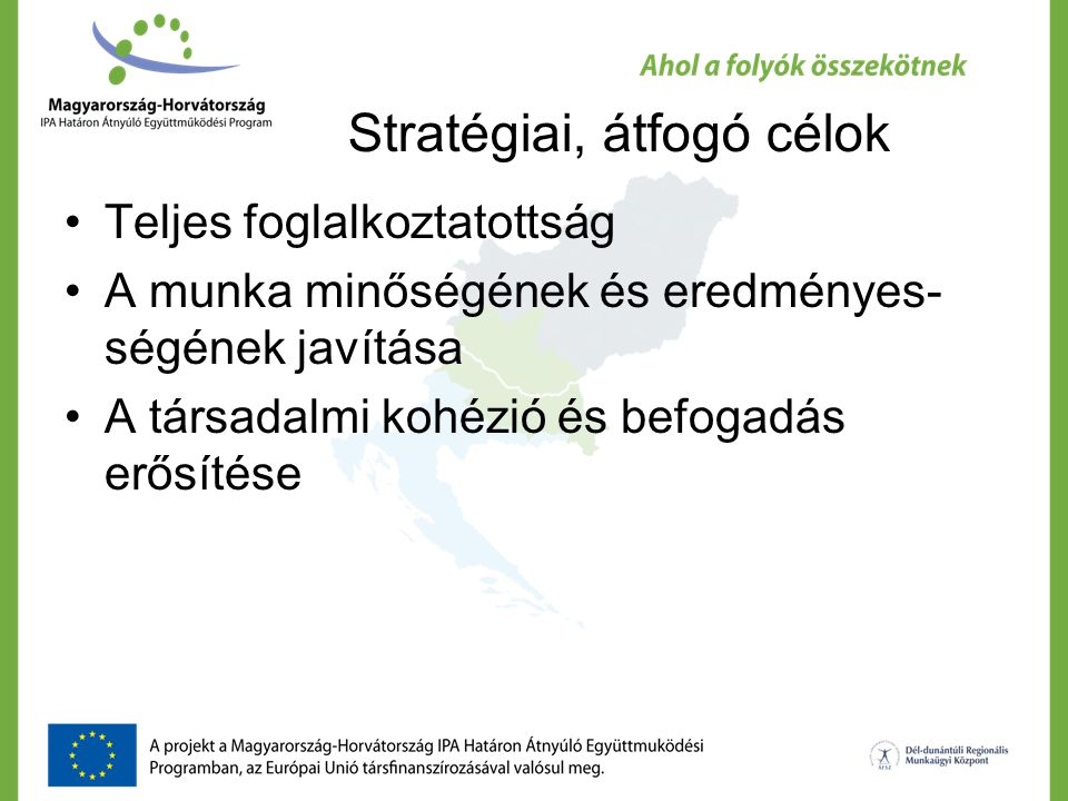 Stratégiai, átfogó célok