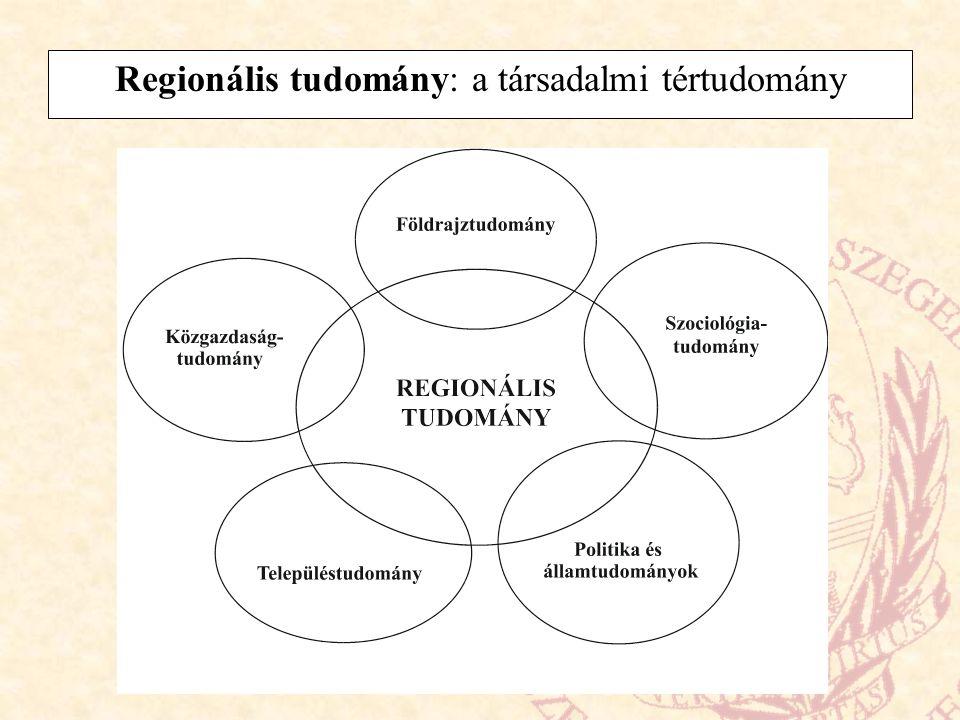 Regionális tudomány: a társadalmi tértudomány