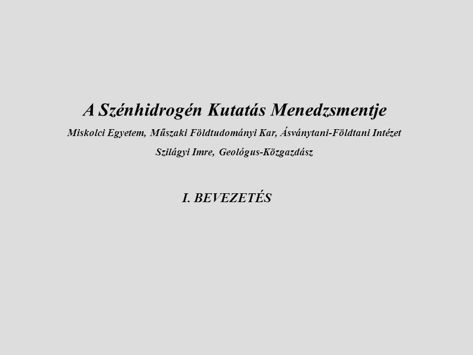 A Szénhidrogén Kutatás Menedzsmentje