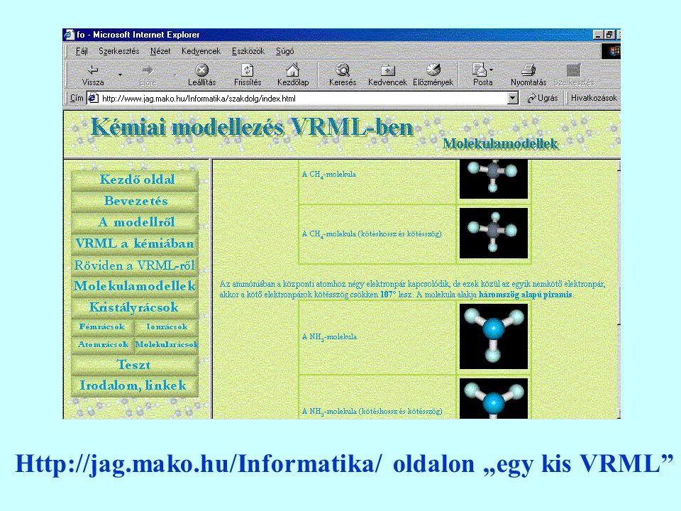 "Http://jag.mako.hu/Informatika/ oldalon ""egy kis VRML"