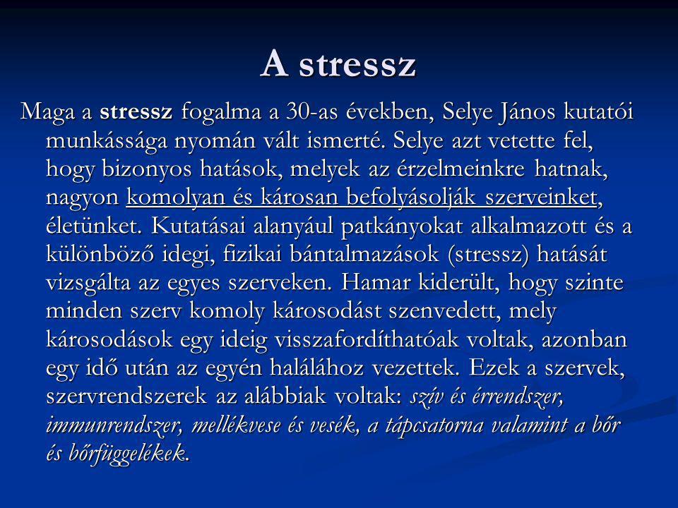 A stressz