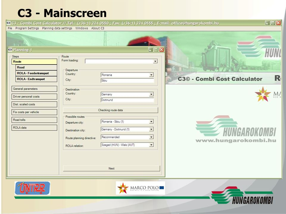 HUNGAROKOMBI C3 - Mainscreen 27.08.2009 16