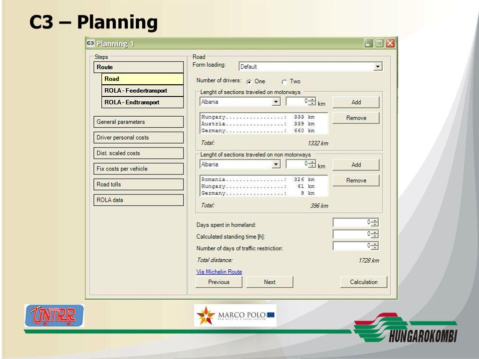 HUNGAROKOMBI C3 – Planning 27.08.2009 17