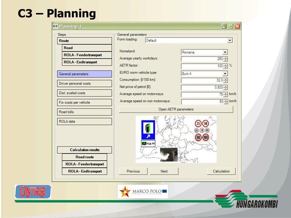 HUNGAROKOMBI C3 – Planning 27.08.2009 18