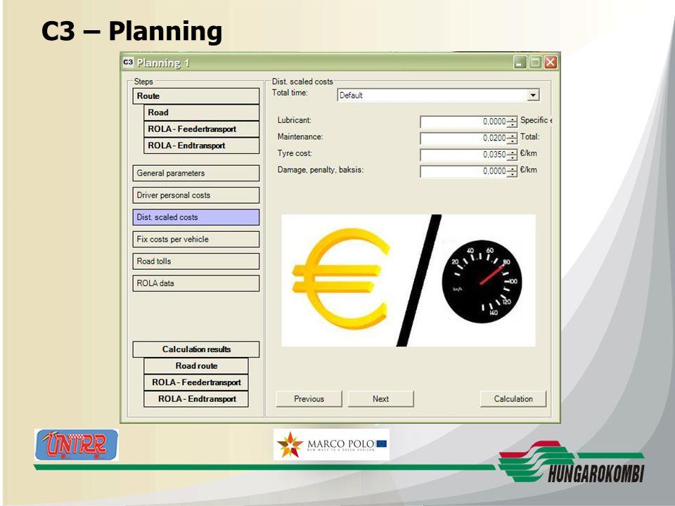 HUNGAROKOMBI C3 – Planning 27.08.2009 20