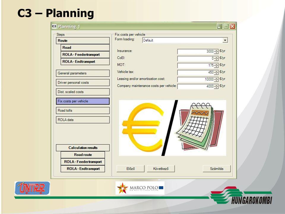 HUNGAROKOMBI C3 – Planning 27.08.2009 21