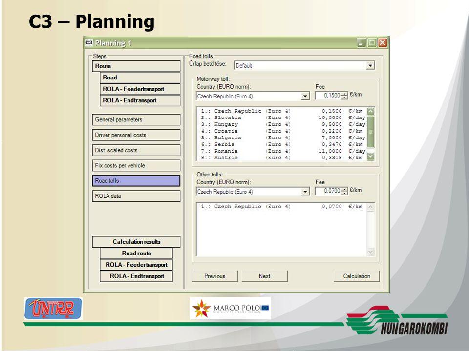 HUNGAROKOMBI C3 – Planning 27.08.2009 22