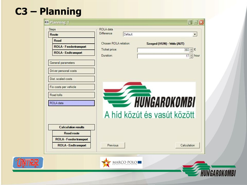 HUNGAROKOMBI C3 – Planning 27.08.2009 23