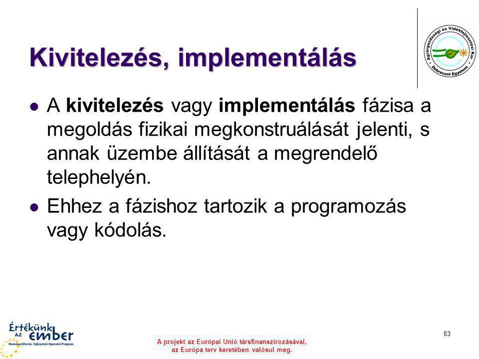 Kivitelezés, implementálás