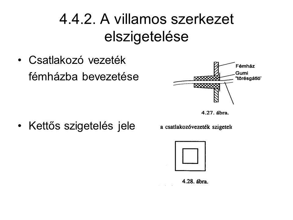 4.4.2. A villamos szerkezet elszigetelése