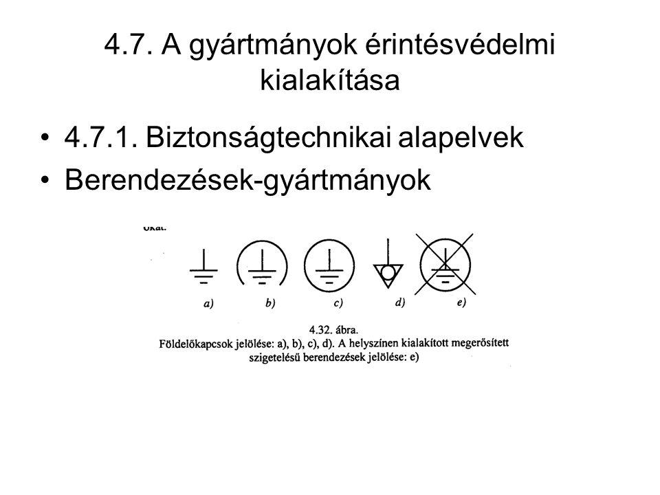 4.7. A gyártmányok érintésvédelmi kialakítása