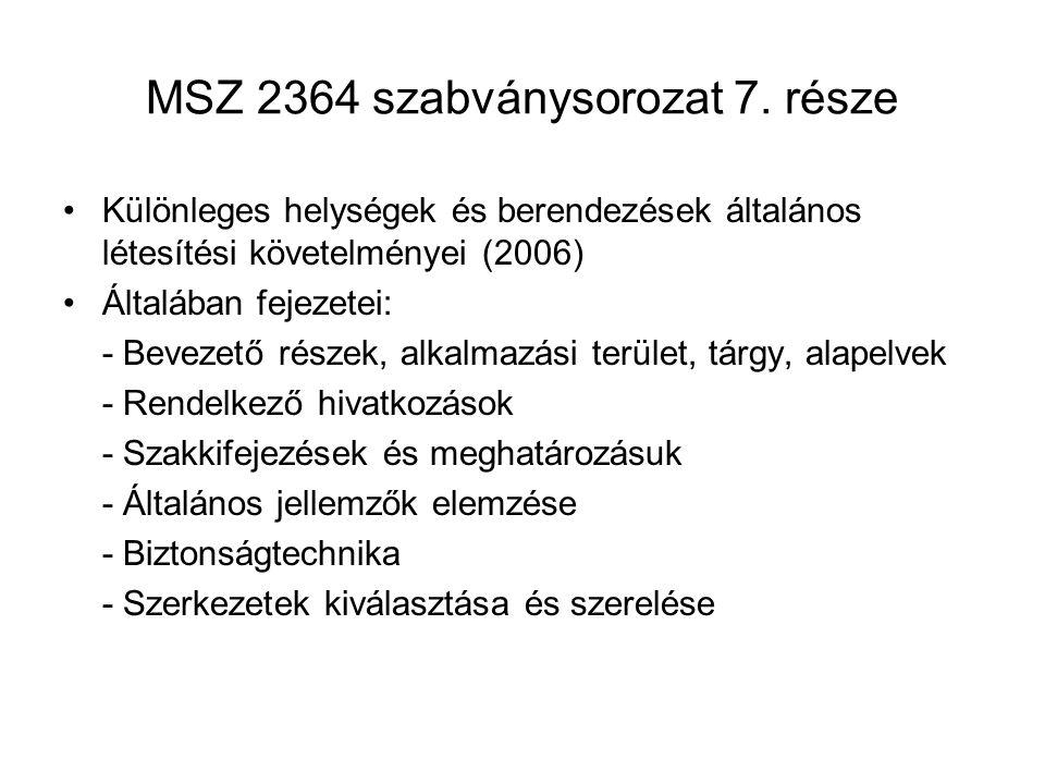 MSZ 2364 szabványsorozat 7. része