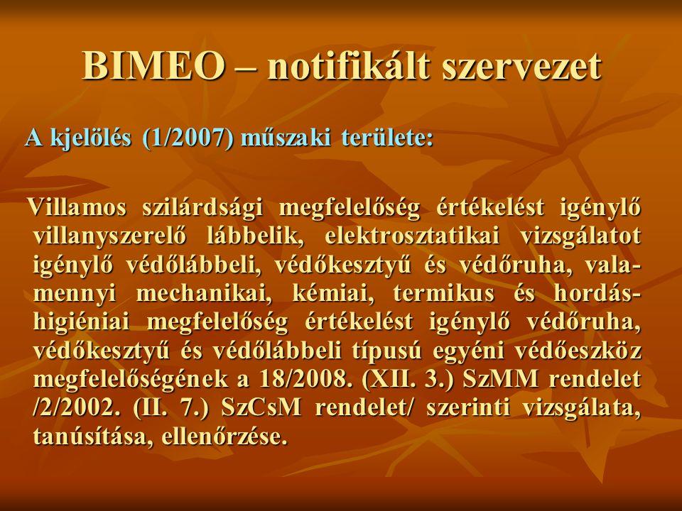 BIMEO – notifikált szervezet