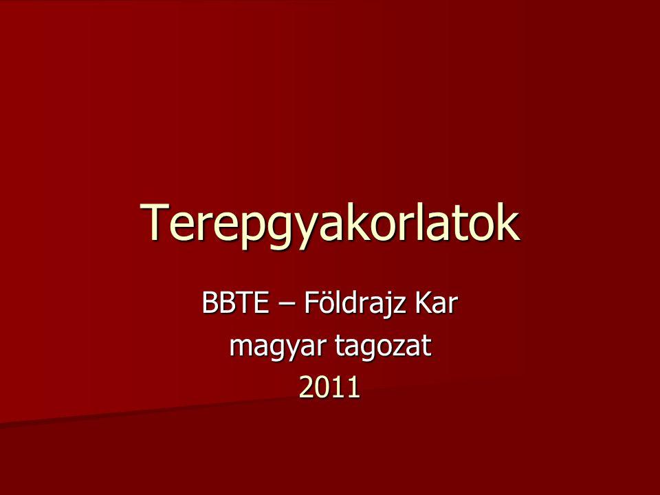 BBTE – Földrajz Kar magyar tagozat 2011