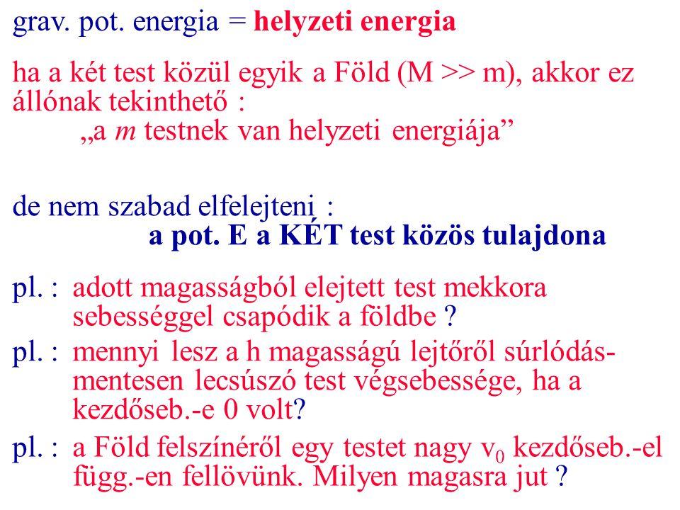 grav. pot. energia = helyzeti energia