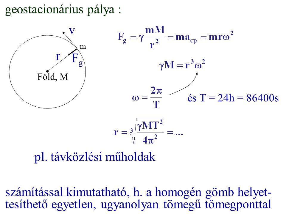 geostacionárius pálya : v