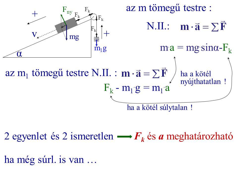 2 egyenlet és 2 ismeretlen Fk és a meghatározható