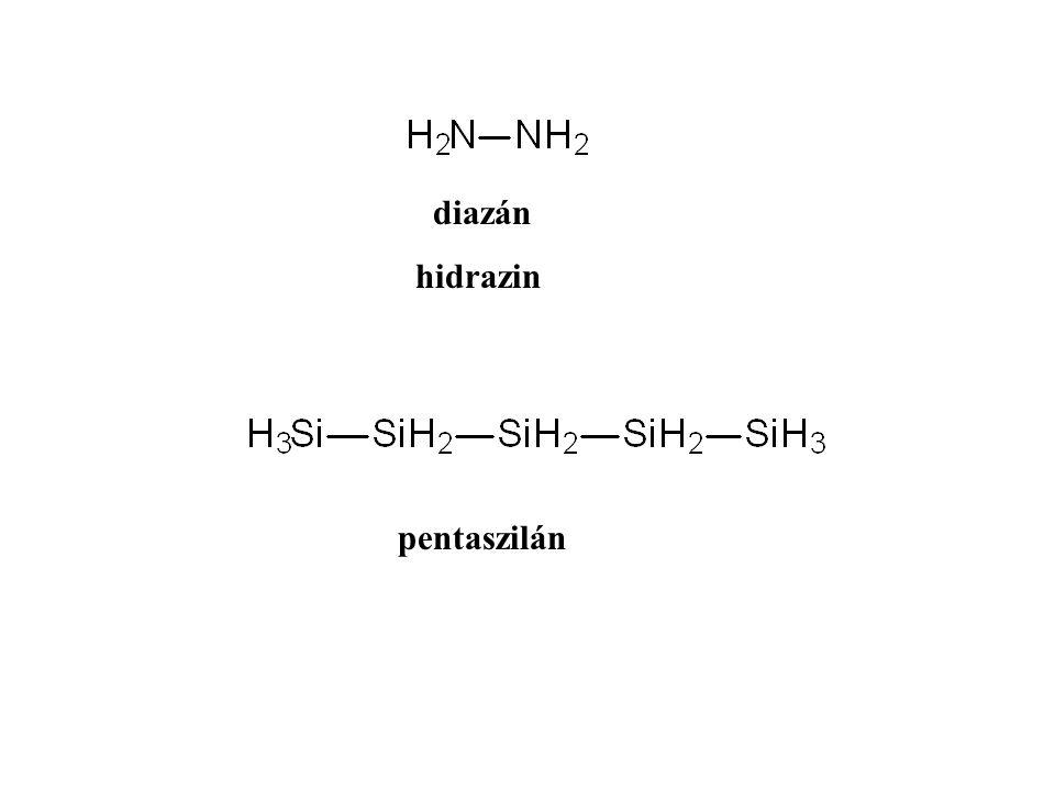 diazán hidrazin pentaszilán