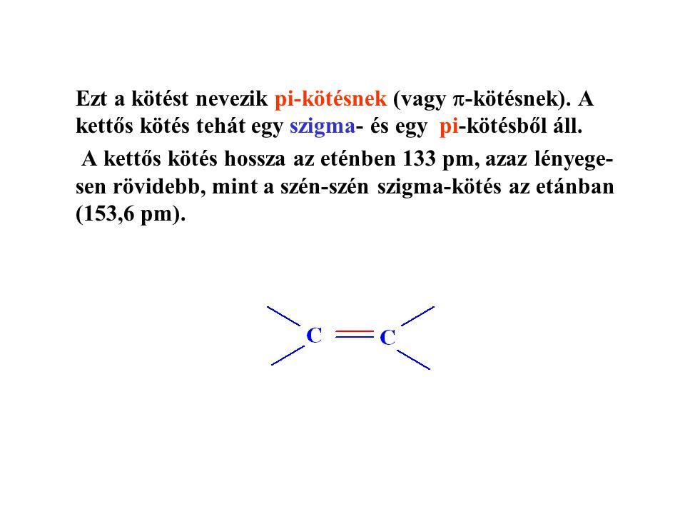 Ezt a kötést nevezik pi-kötésnek (vagy -kötésnek)