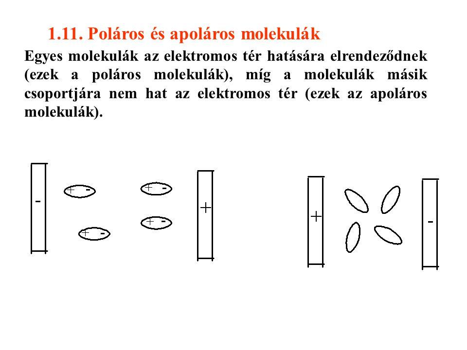 1.11. Poláros és apoláros molekulák
