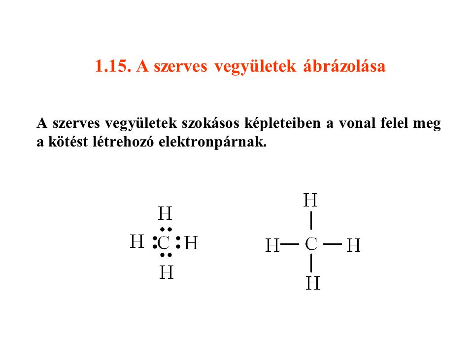 1.15. A szerves vegyületek ábrázolása