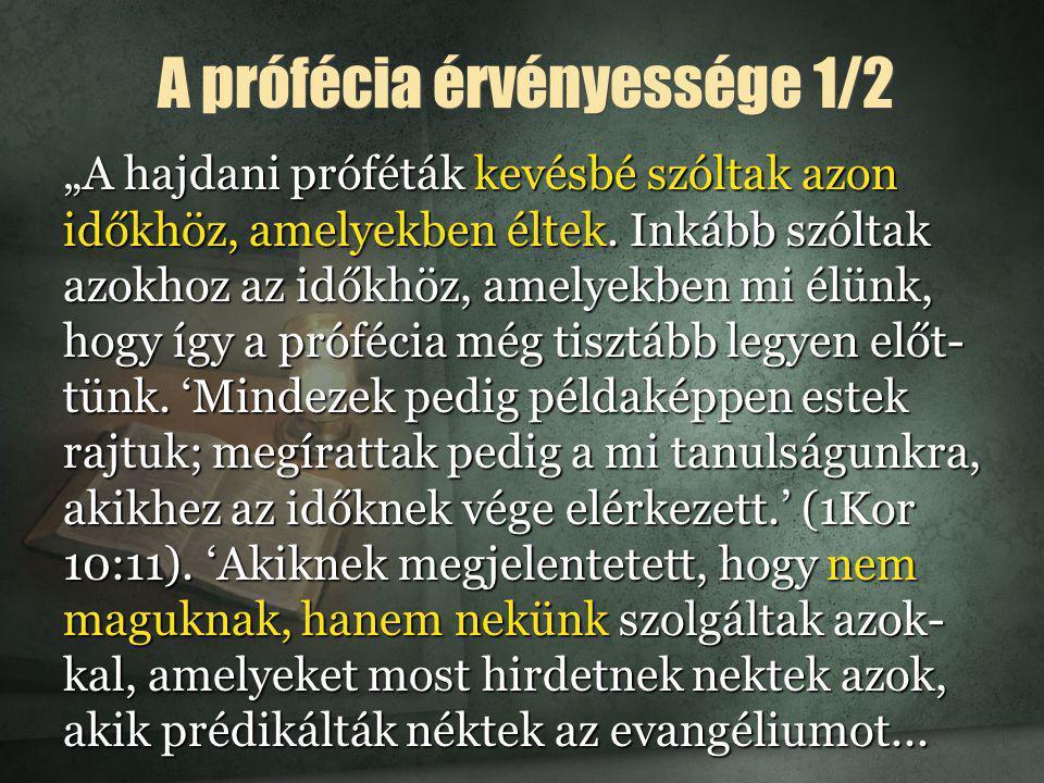 A prófécia érvényessége 1/2