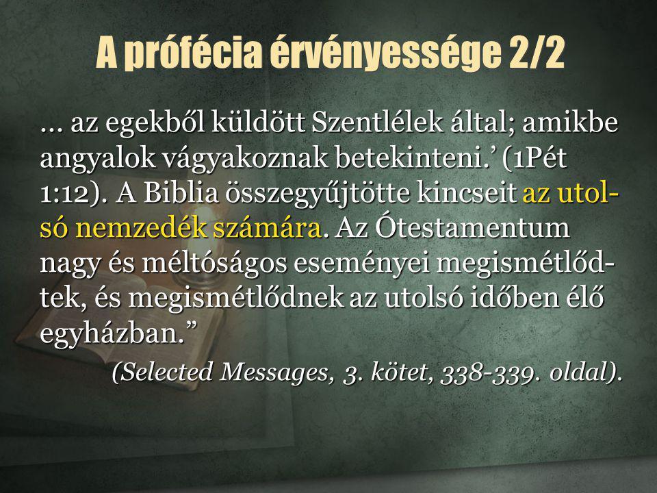 A prófécia érvényessége 2/2