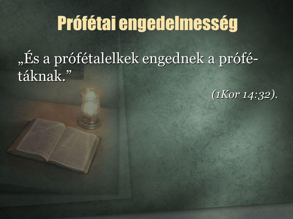 Prófétai engedelmesség