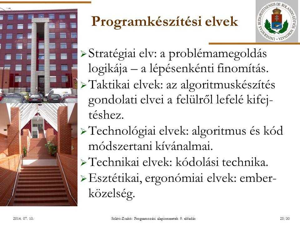 Programkészítési elvek