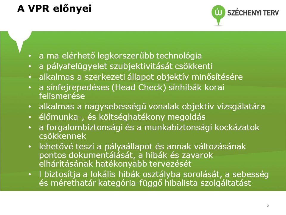 A VPR előnyei a ma elérhető legkorszerűbb technológia