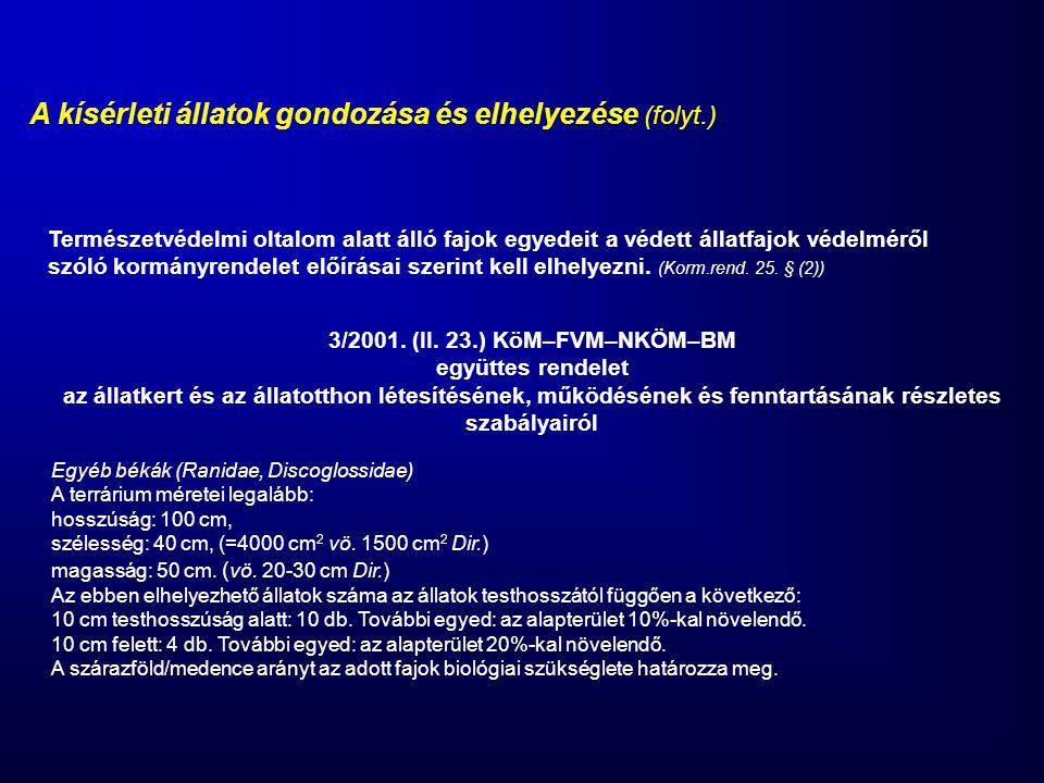 3/2001. (II. 23.) KöM–FVM–NKÖM–BM együttes rendelet