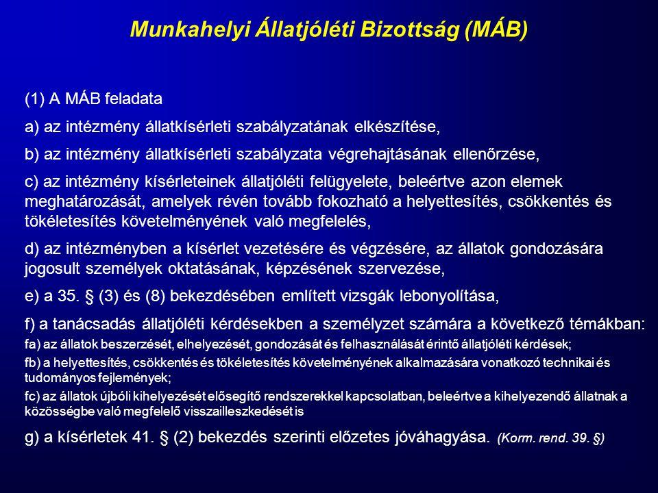 Munkahelyi Állatjóléti Bizottság (MÁB)