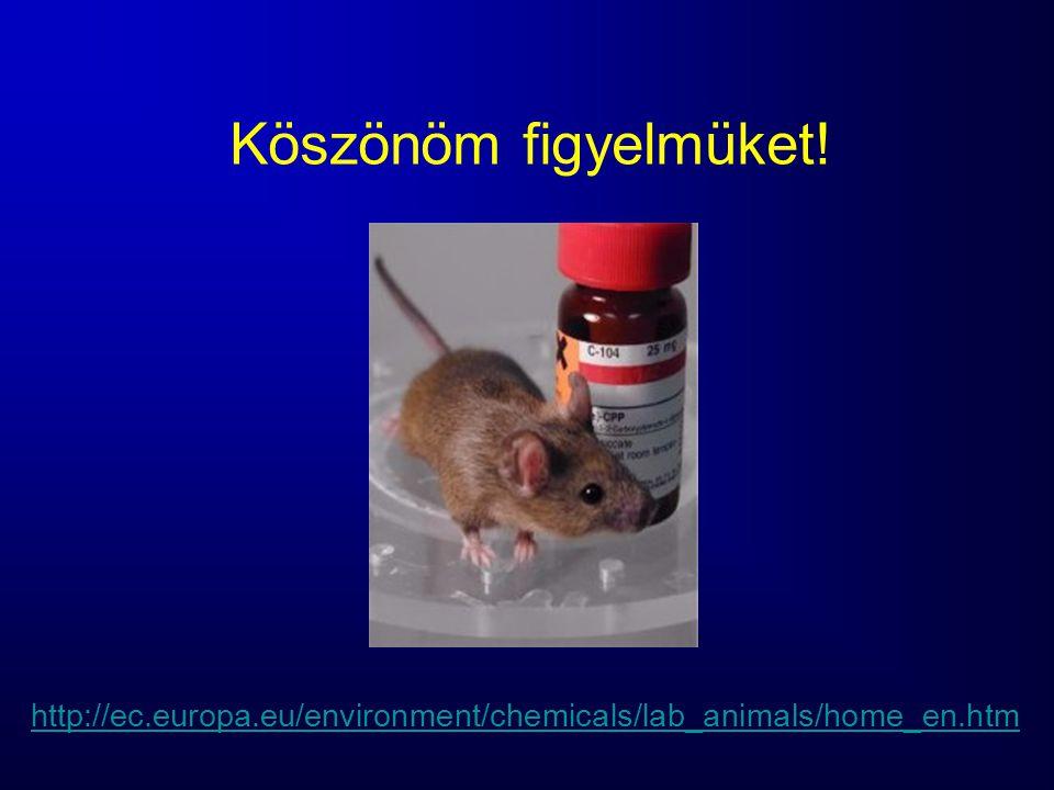 Köszönöm figyelmüket! http://ec.europa.eu/environment/chemicals/lab_animals/home_en.htm