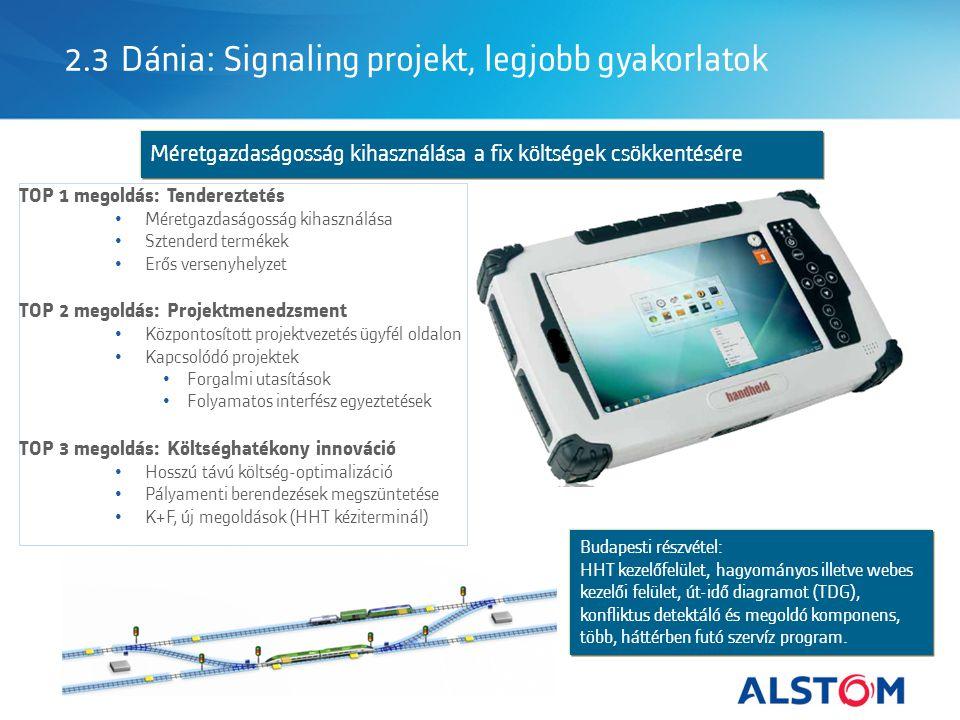 2.3 Dánia: Signaling projekt, legjobb gyakorlatok