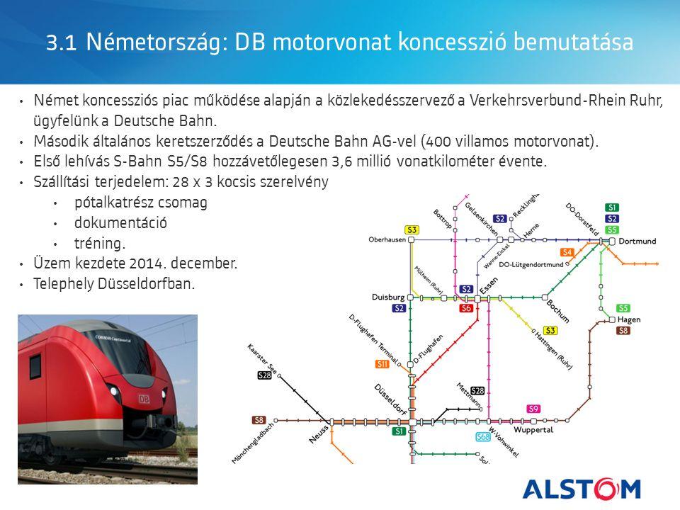 3.1 Németország: DB motorvonat koncesszió bemutatása