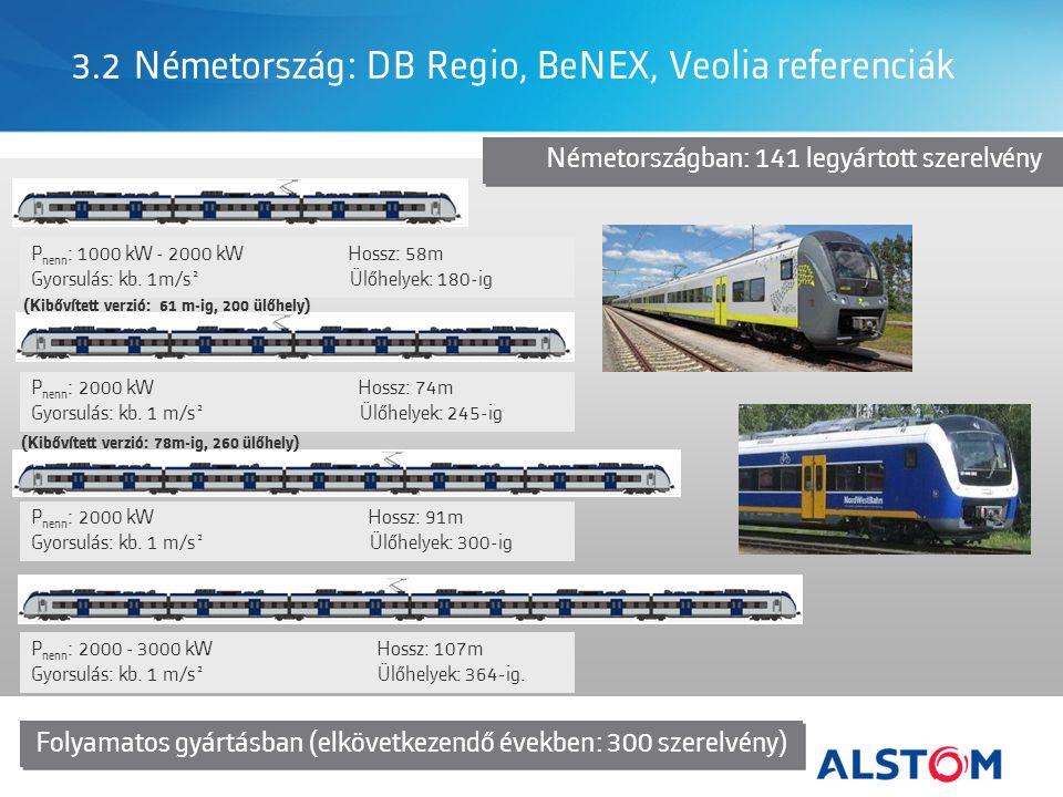 3.2 Németország: DB Regio, BeNEX, Veolia referenciák